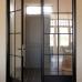 Распашные стеклянные двери, металл и закаленное стекло для дома