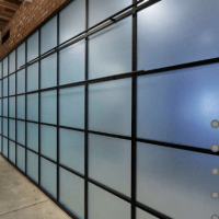 Лофт перегородки раздвижные с матовым стеклом в офисных помещениях