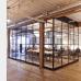Большие стеклянные перегородки для офиса в стиле лофт